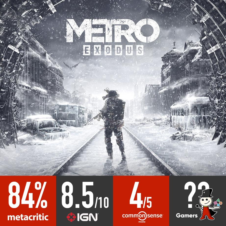 Excellent reviews for #MetroExodus from different sources!  #GamersJo https://t.co/sRZlN68wLI