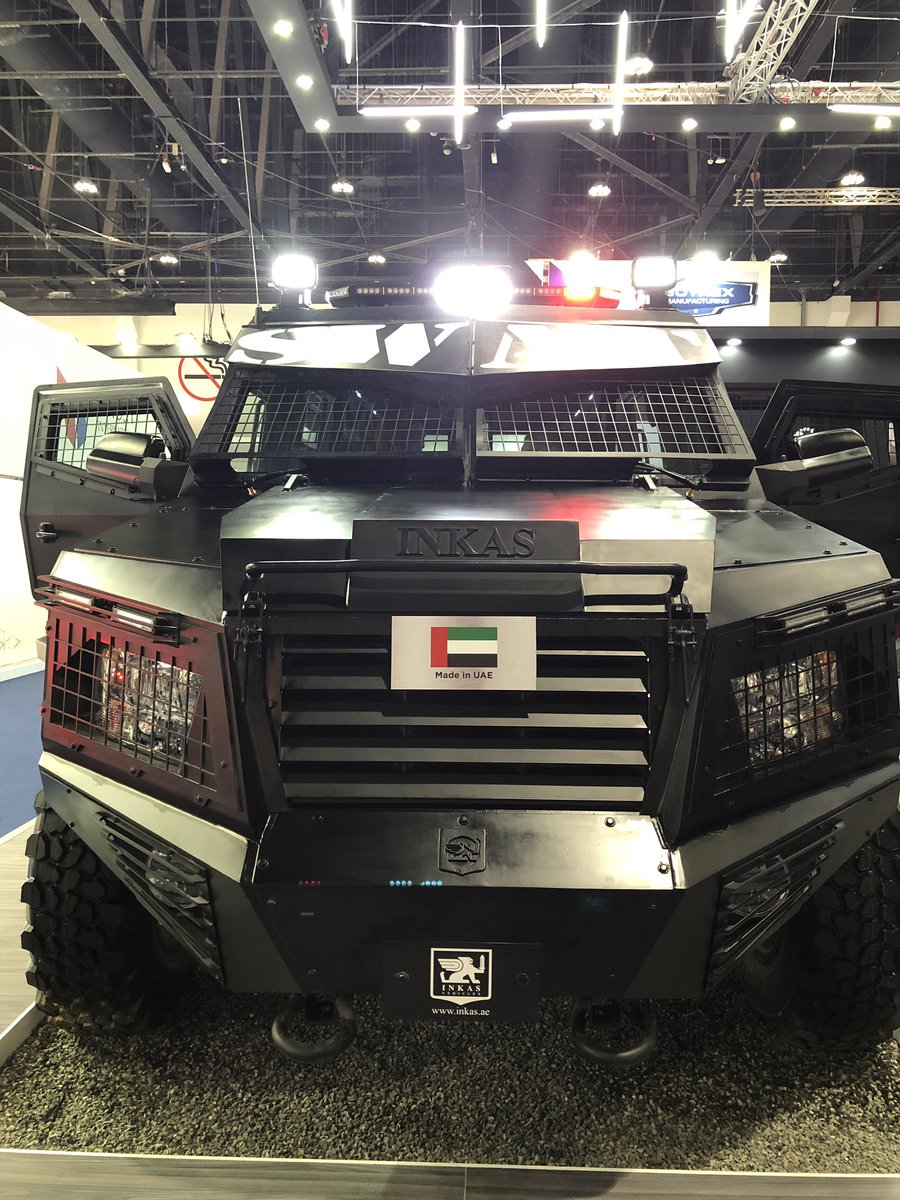 Made in the #UAE armored vehicle at #IDEX exhibition #Abudhabi