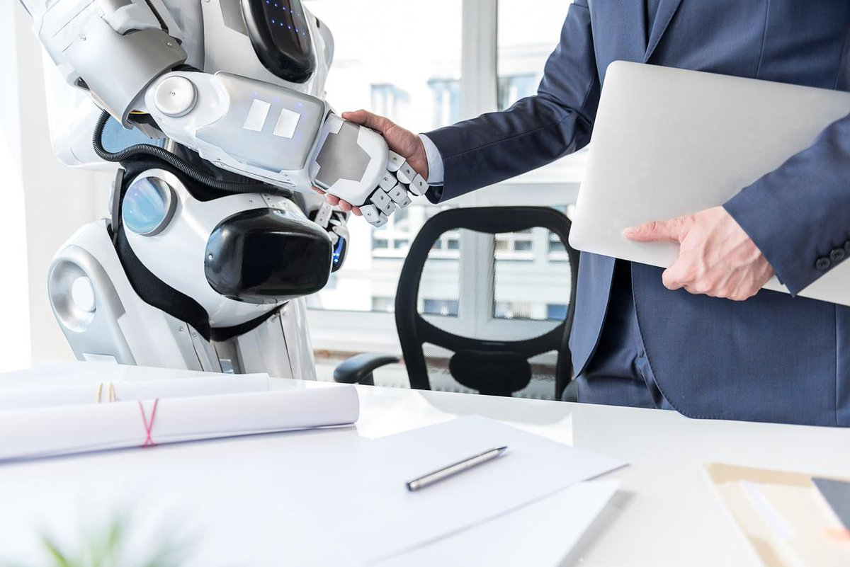 """""""The #futureofwork is built upon machine-human partnerships where humans focus on work that is meaningful and real."""" ~ #quote @TamaraMcCleary, @ThuliumCo. Read @guzmand's take on #technology's impact on work. http://bit.ly/2N9eThP"""