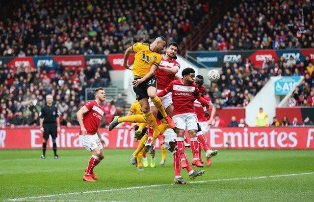 #FACup | #BRIWOL  Wolverhampton s'impose 1-0 à Bristol City et continu son parcours dans la compétition ! Ivan Cavaleiro unique buteur du match