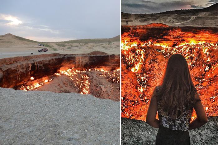 Real 'Door to Hell' - Crater that has been Burning Half a Century https://earthtripper.com/real-door-hell-crater-has-been-burning-half-century…