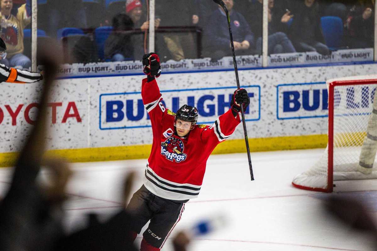 Four goal comeback + dramatic shootout winner = sweet, sweet Victor-y for the @goicehogs.