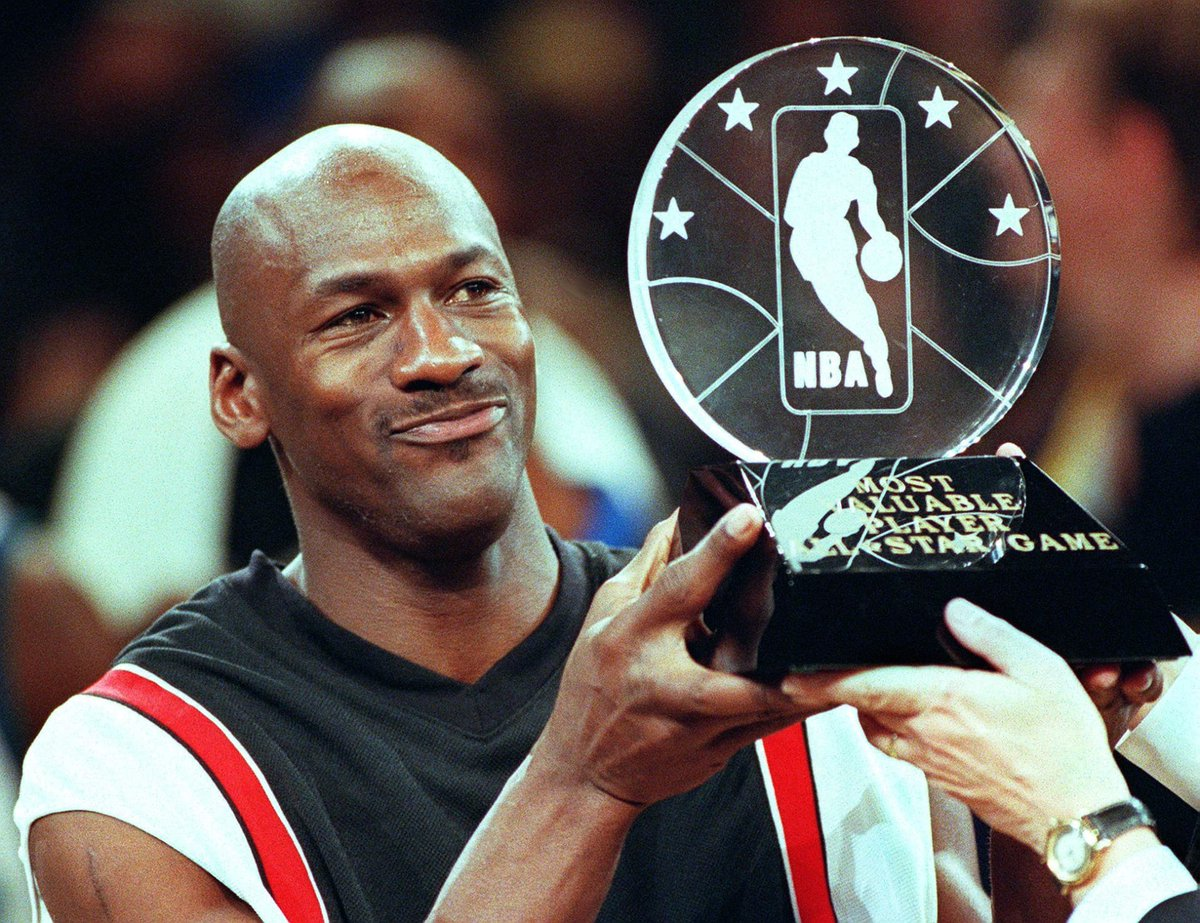 c735fb89 Happy birthday to #NBAAllStar2019 host and 3x #NBAAllStar MVP Michael Jordan.  MJ's three All-Star MVPs: 1998: 23 points, 8 assists, 6 boards, 3 steals  1996: ...