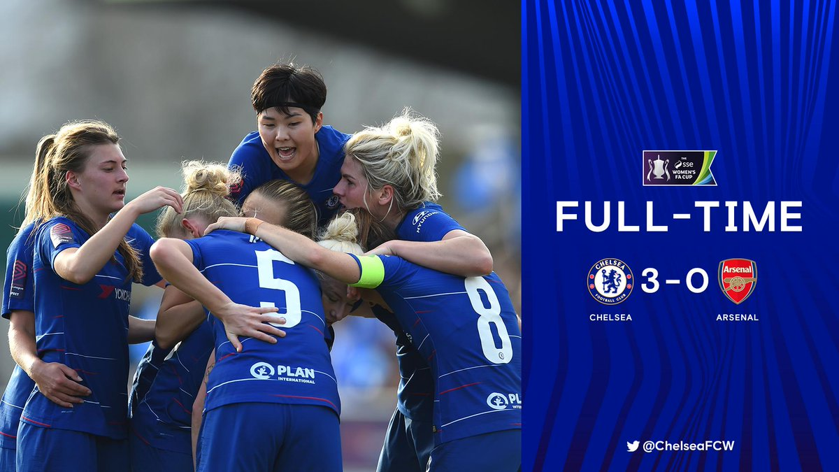Brilliant performance by Chelsea! 🙌  FA Cup quarter-finals, here we come!  #CFCW