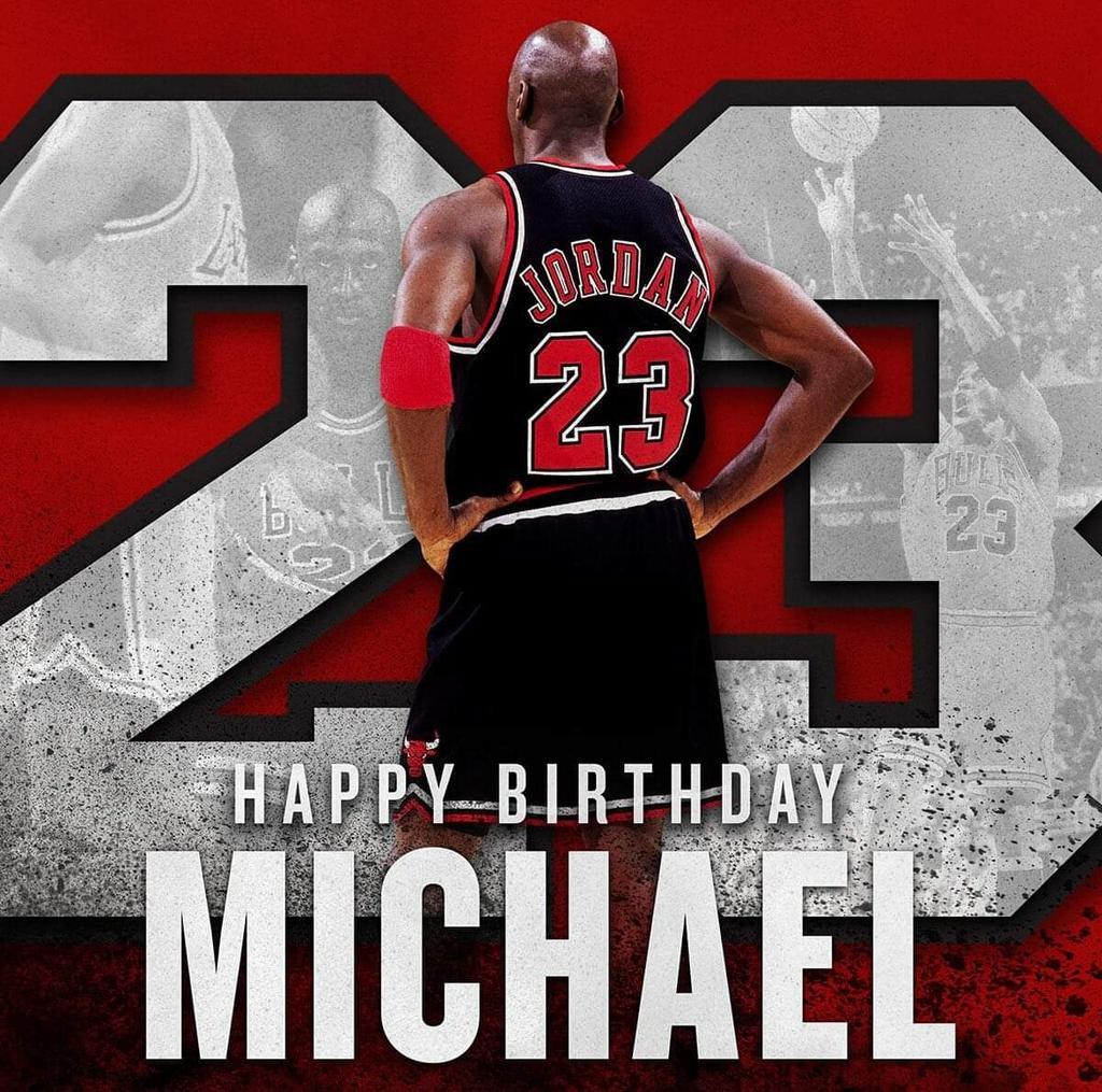 Felices 56 años al más grande e incomparable jugador en la historia del basquetbol 🏀❤️🏀 Excelente día para celebrarlo en el #NBAAllStar  #MJ #MichaelJordan #AirJordan #Bulls #BKB #MJ23 🐐