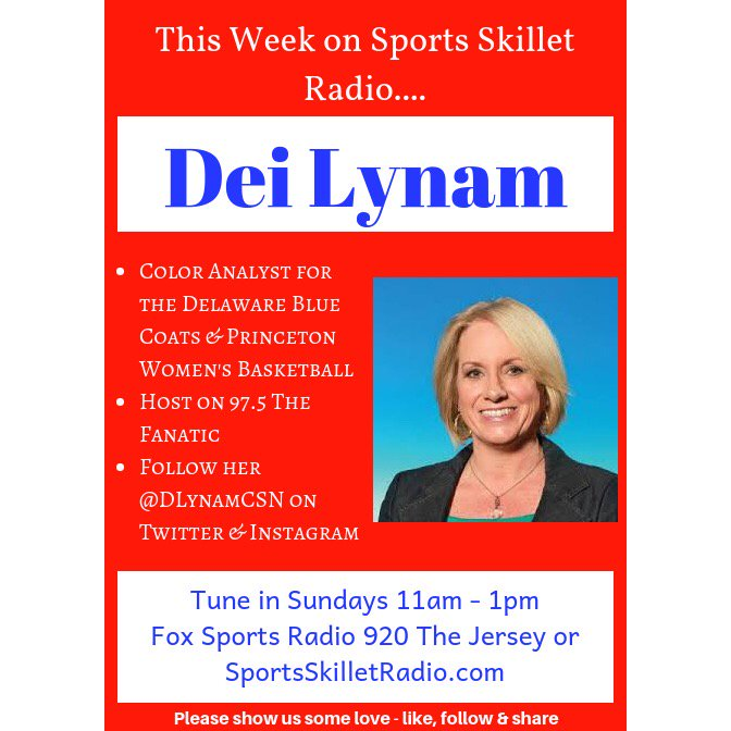 Happy to have @dlynamCSN back to talk @sixers & NBA!  Be listening @ 11 Eastern: http://SportsSkilletRadio.com  & @FoxSportsRadio 920 The Jersey Be Dialing! 609-919-9200 #SportsSkillet #DeiLynam #NBA #76ers #Sixers #WelcomeToTheMoment #PhilaUnite #Philadelphia76ers #HereTheyCome