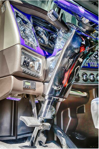 "Big Rig Interior https://theresa-tahara.pixels.com/featured/big-rig-interior-theresa-tahara.html… A real ""wow"" interior.  #bigRig #truck #trucks #trucker #truckers #interior #Chrome #longhaul #highway #prints #truckprints #Kamloops #semi #18wheeler #drivers"