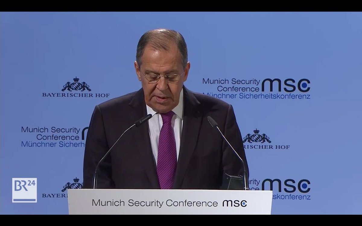Listen to Sergey #Lavrov's speech at @MunSecConf : https://t.co/vKHgsMg889 #Russia #MSC #MSC2019 #Germany