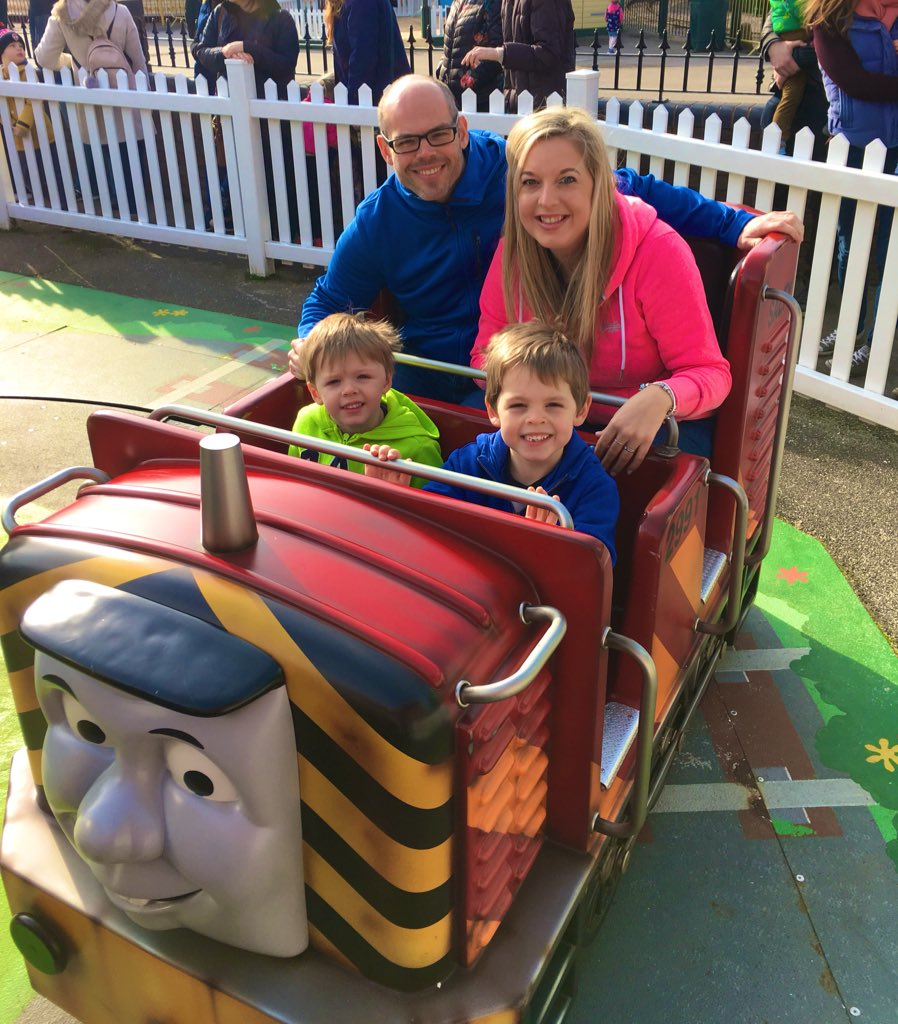 Brilliant day @Draytonmanor Thomas Land with my little family 💙 @sjgascoigne1980