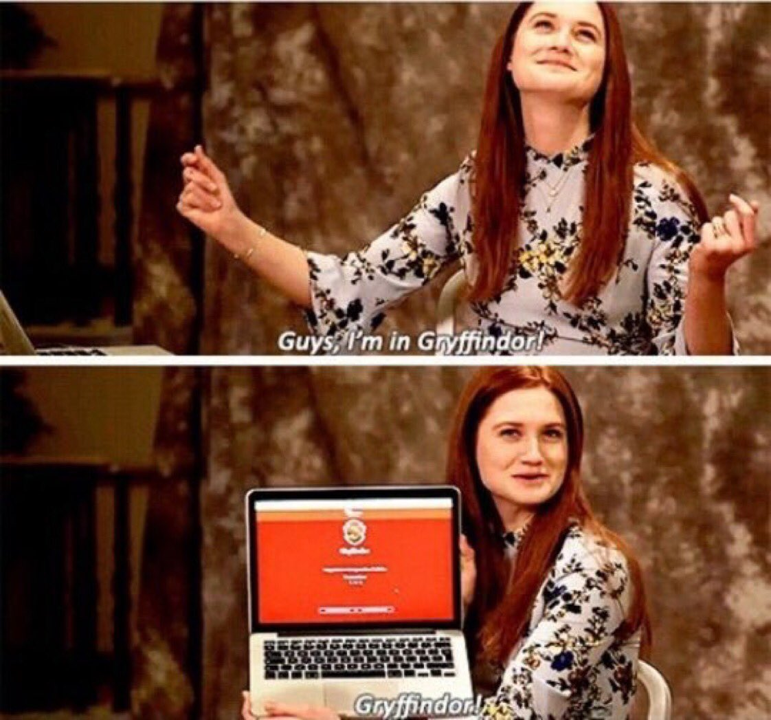 Bonnie Wright was sorted into Gryffindor on Pottermore. Just like Ginny!  #HappyBirthdayBonnieWright<br>http://pic.twitter.com/6hpG3jPyBc