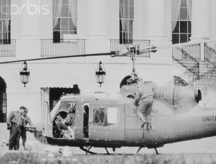 White House aviation scares predate 9/11 by decades. Like this day in 1974 when an Army private unhappy about failing flight school showed he was actually a pretty good pilot - by stealing a helicopter and landing on the White House lawn at 2:00 in the morning   /1