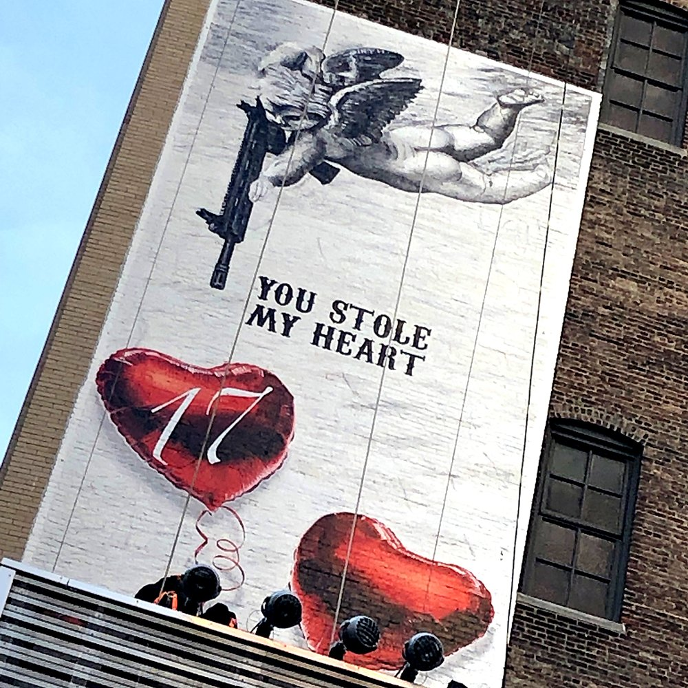 """If you are in New York, go see """"WALL #17"""" at the cross section of 29th & 6th Ave. Thank you to everyone who has already gone by to see it in person 🙏🥑❤️ #changetheref"""