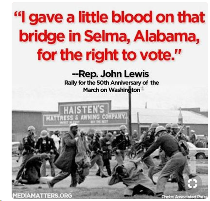 People bled & some even died 4 the right to vote. Now Brian Kemp plans 2 force Georgia voters to use an insecure #BarcodeVoting system that will prevent voters from knowing if their votes have been stolen. Where's the media?! @maddowblog @allinwithchris #HandMarkedPaperBallots 1/