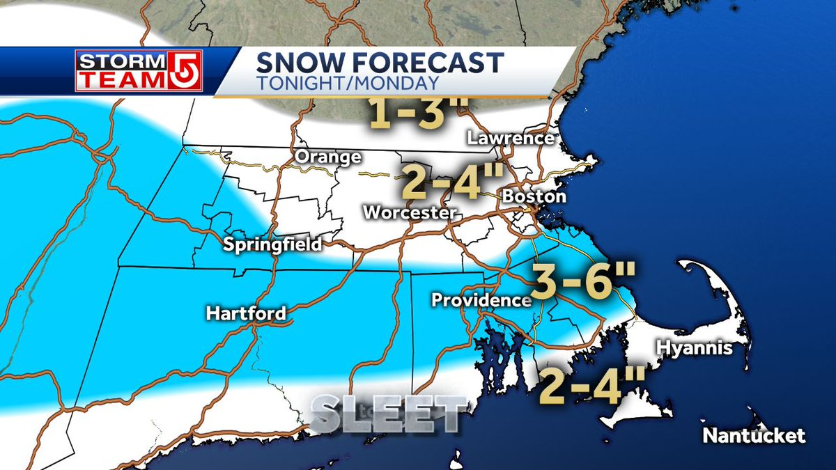 How much snow tonight? @MetMikeWCVB just updated his forecast https://t.co/Q115szzVVN #mawx #weather #snow