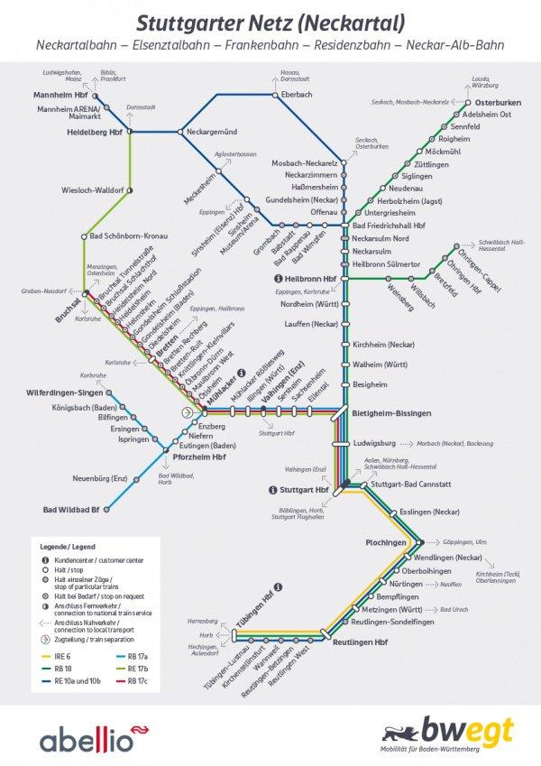 Aufgepasst, wir haben da was für euch! Der Liniennetzplan für unsere Linien im #Stuttgart|er Netz / #Neckartal ist fertig und seit kurzem online abrufbar. 🚉 #abelliobw Mehr dazu: http://abellio.de/bw-liniennetzplan…