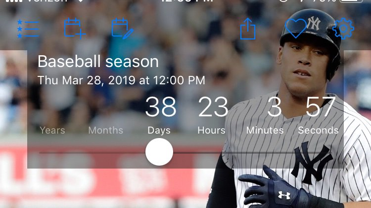 The countdown is on ⚾️