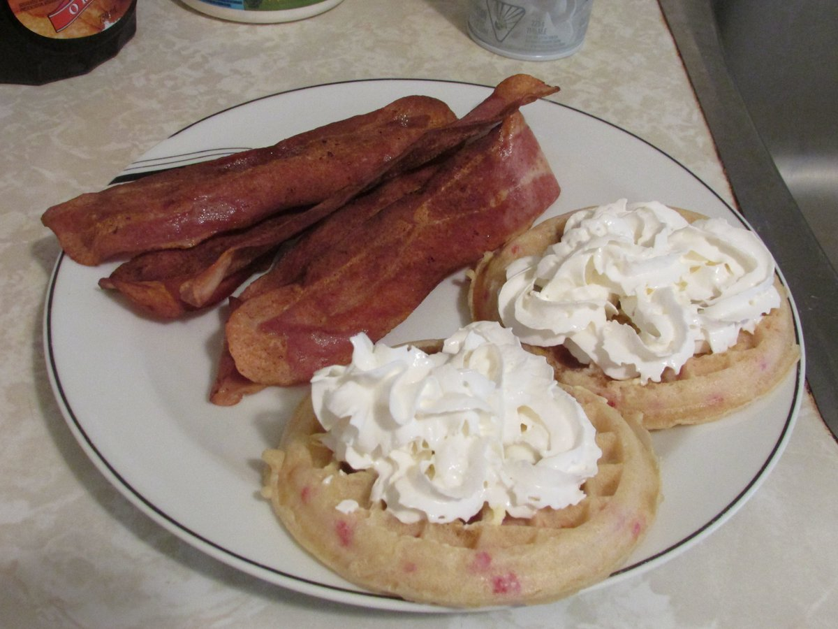 #WafflesAndBacon #SundayMorning