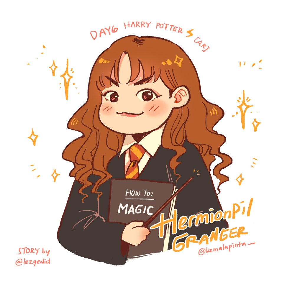 Nobody can stop me to quick doodling Hermionpil Granger✨ Don't miss this hilarious DAY6 Harry Potter AU by @lezgedid guys!!!  Lezzgoo!   #DAY6 #DAY6fanart #데이식스 #원필 #ArtbyDFI #kemalaillust