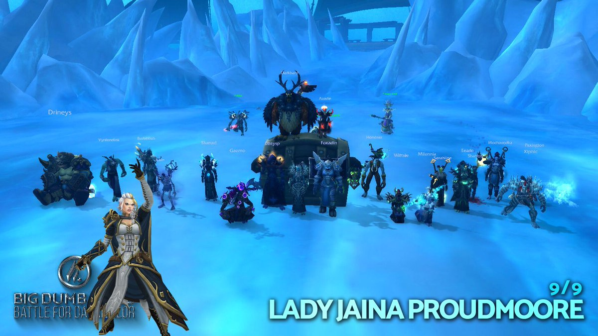 Last night, we joined the 9/9M crew at rank NA 3rd, World 16th, downing Mythic Lady Jaina Proudmoore in only 194 total pulls! Good luck to all the talented guilds out there pushing for more top ranks! Check out our kill vid from Ele Sham POV @NaesamGaming. https://buff.ly/2X8PnOc