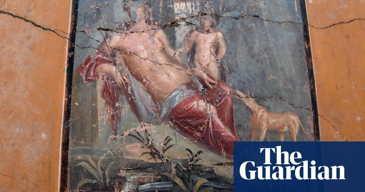 #Archeology>> #Narcissus #Pompeii [The Guardian] Stunningly preserved fresco of Narcissus discovered in Pompeii https://www.theguardian.com/world/2019/feb/14/stunningly-preserved-fresco-of-narcissus-discovered-in-pompeii…