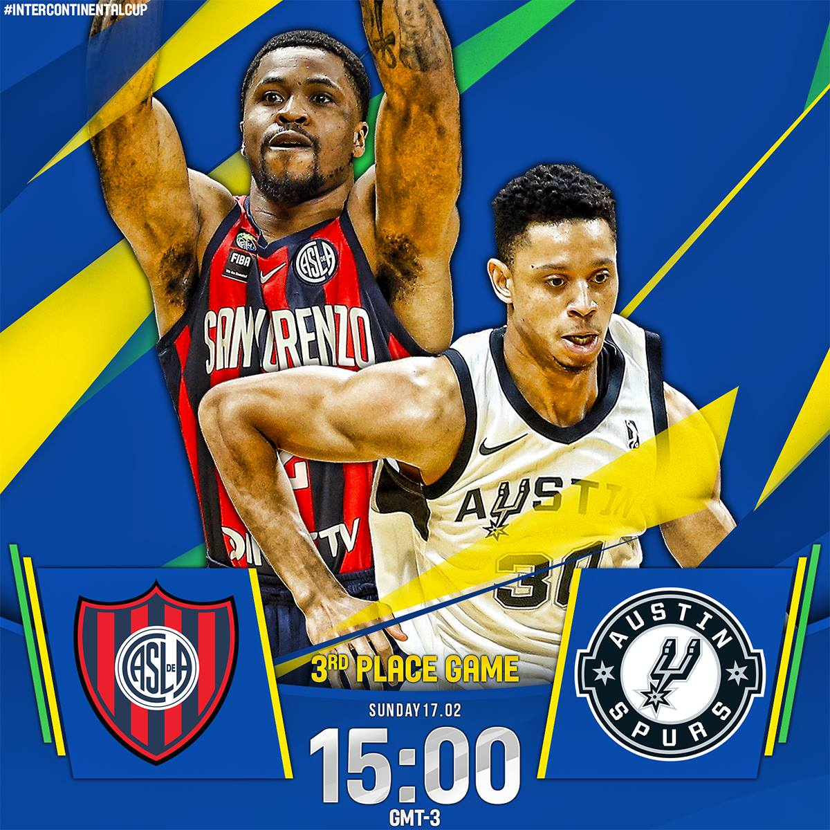 LIVE: Reigning #NBAGLeague champion @Austin_Spurs face San Lorenzo de Almagro (Argentina) in 3rd Place Game of @FIBAIC! #IntercontinentalCup   Watch here: http://on.nba.com/2GSB0aS