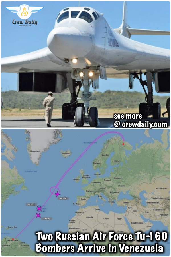 Two Russian Air Force Tu-160 Bombers Arrive in Venezuela https://crewdaily.com/two-russian-air-force-tu-160-bombers-arrive-in-venezuela/… #TwoRussian #Russian #AirForce #RussianAirForce #fighter #jet #jets #fighters #fighterjet #fighterjets #Tu160 #160Bombers #Bombers #Venezuela #crewdaily