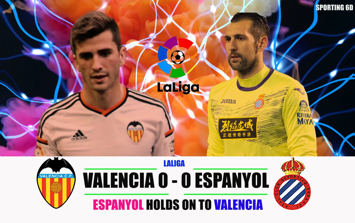 Stalemate at Mestalla as Espanyol drew with Valencia. Valencia are 5 points behind 4th placed Sevilla for champions league spot. #ValenciaEspanyol #futbol #UCL #SevillaFC #valenciacf #SundayThoughts #LaLigaSantander #EspanyoldeBarcelona