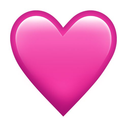 it's 2019 and iOS still doesn't give us a simply pink heart without anything on it. Can you imagine?