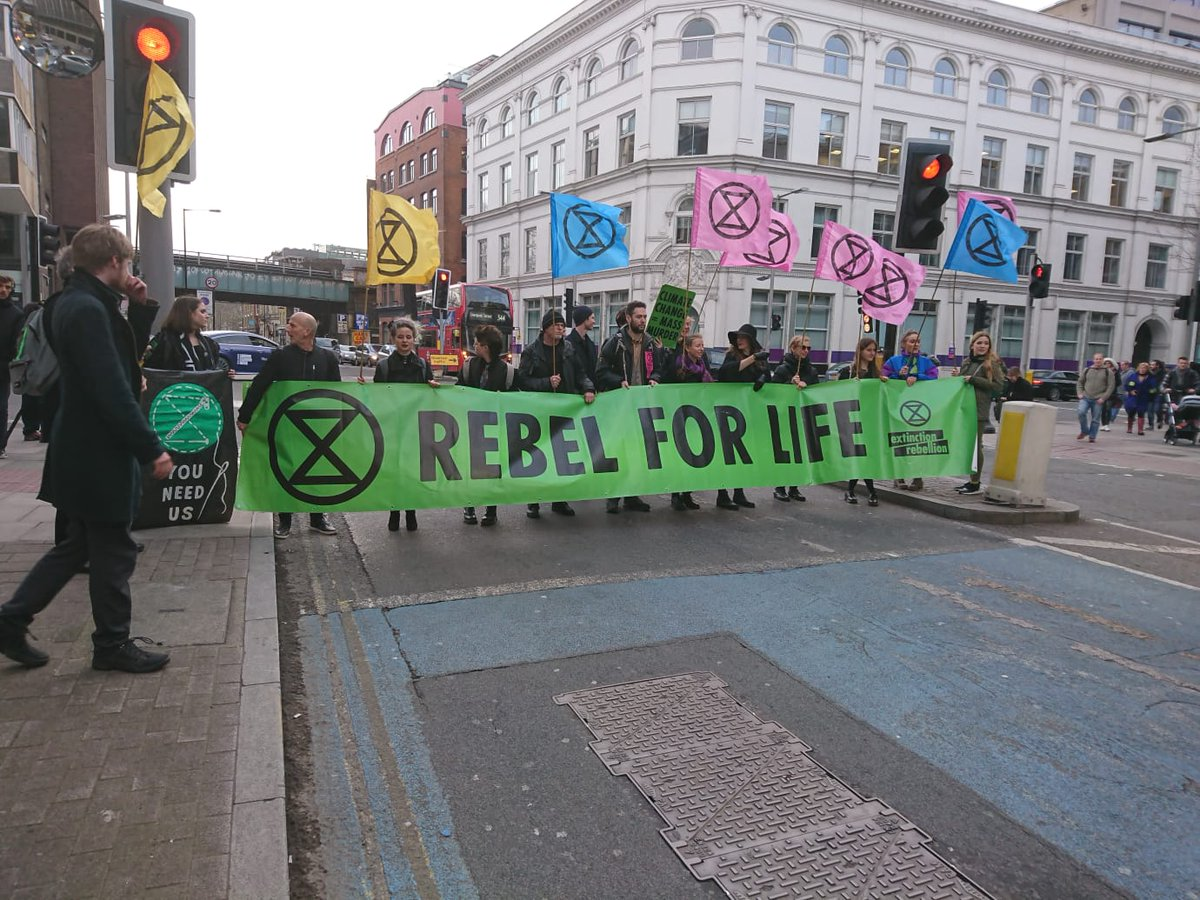 IN PICTURES: Here are more of @ExtinctionR 's activists protesting against unsustainable practices in the fashion industry during London Fashion Week #TicTocNews