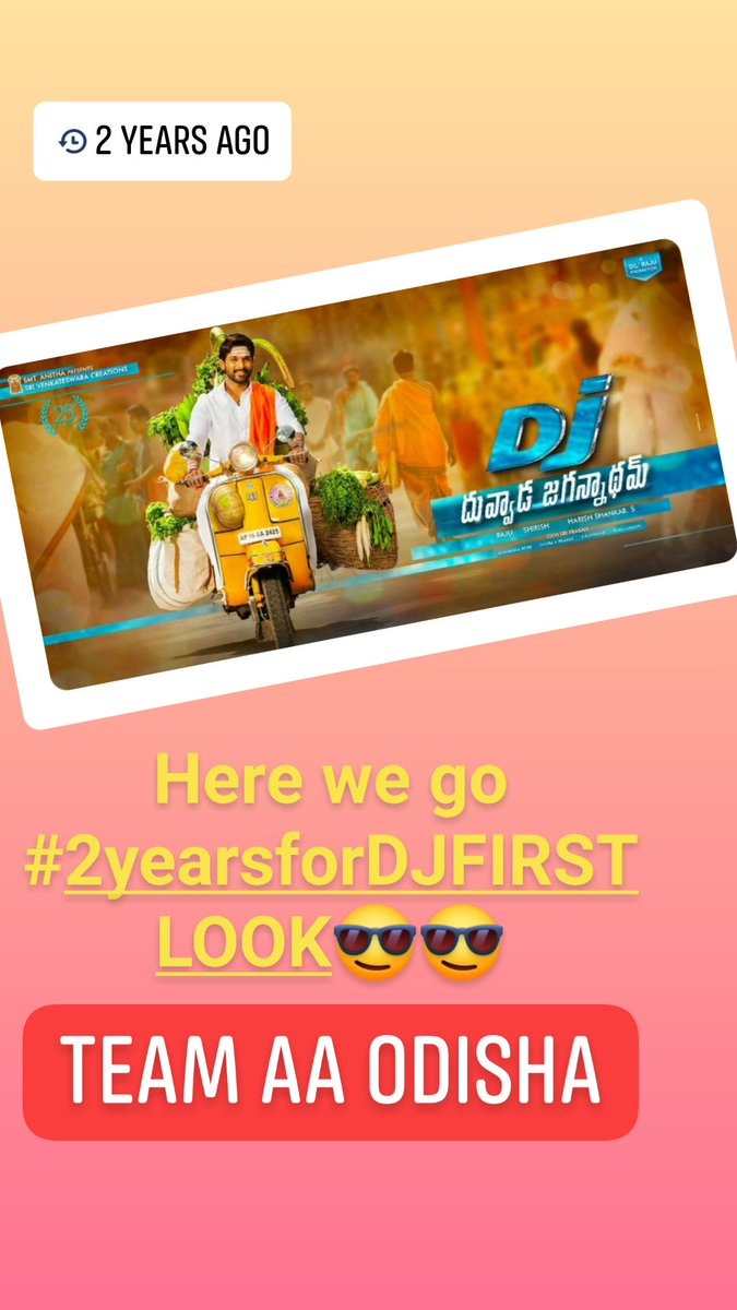 Here we go  #2yearsfor #DJFirstlook Thankyou @harish2you Anna for giving new and tradition style for our @alluarjun anaya and giving us a blockbuster hit... @hegdepooja Love you bhaiya as #jaibunny  #DJFIRSTLOOK #TEAMAAODISHA<br>http://pic.twitter.com/G3F8MsxCTs