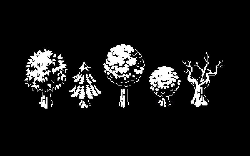 Little happy trees  #1bit #pixelart #gamedev #indiedev <br>http://pic.twitter.com/8N6j1bK5h3