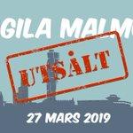 Image for the Tweet beginning: Agila Malmö 2019 sålde slut