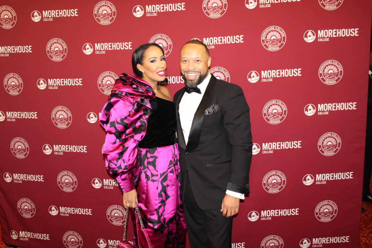 Celebrating Morehouse and its legacy of creating strong black male leaders💪🏾 at Candle in the Dark Gala. @pauljudge  #morehouse #candleinthedark #getyouaMorehouseMan 🖤