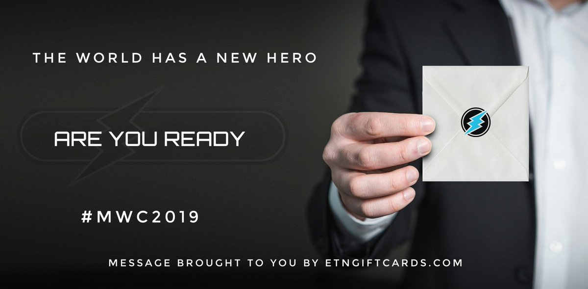 Are you ready? We are at.  http:// etngiftcards.com  &nbsp;     #electroneum #ETN #crypto #MWC19 #MassAdoption <br>http://pic.twitter.com/0G7ysVLhiO