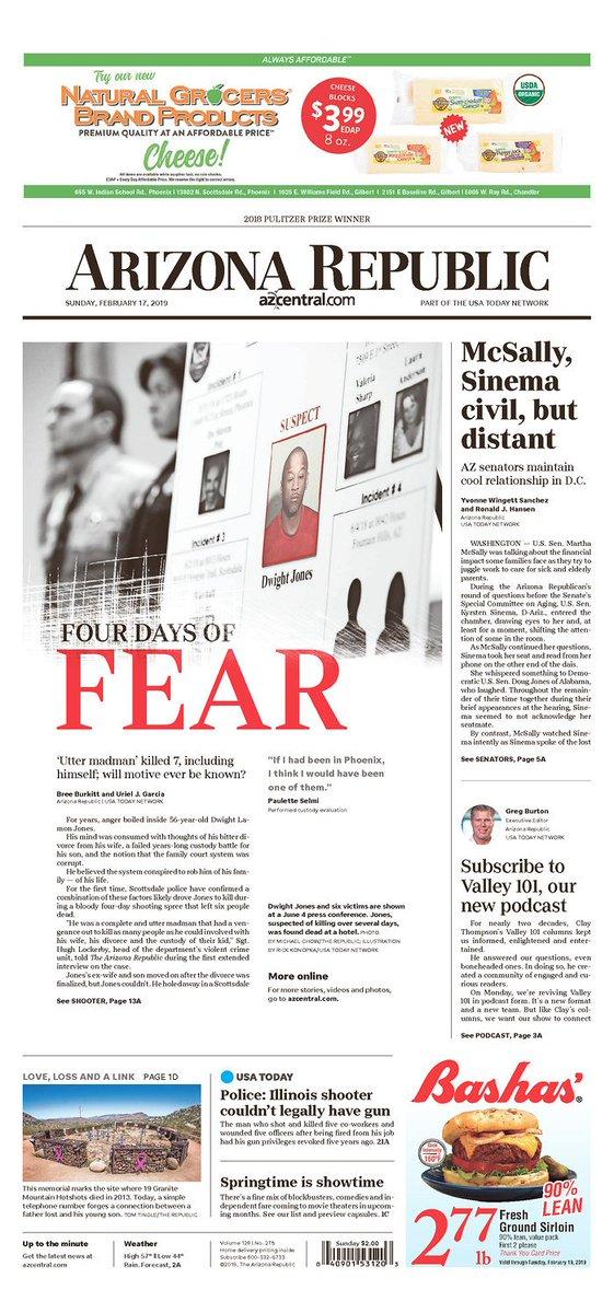 On the front page of Sunday's Arizona Republic: 'McSally, Sinema civil, but distant.' #AZSEN (via @yvonnewingett and @ronaldjhansen)  https://t.co/xKmibhKuTC