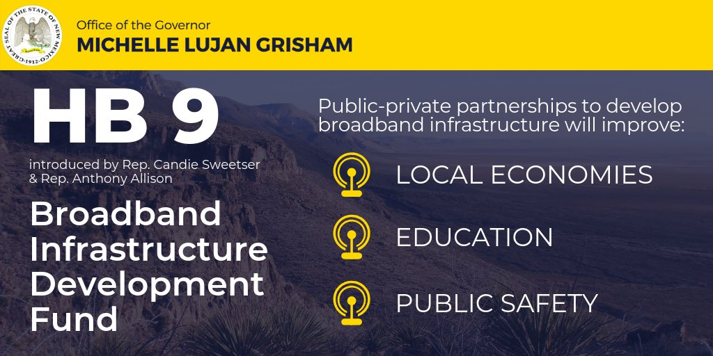 Broadband is an essential element of a modern, efficient and effective infrastructure system. Investments in broadband will be an incredible boost for rural and Native New Mexico.