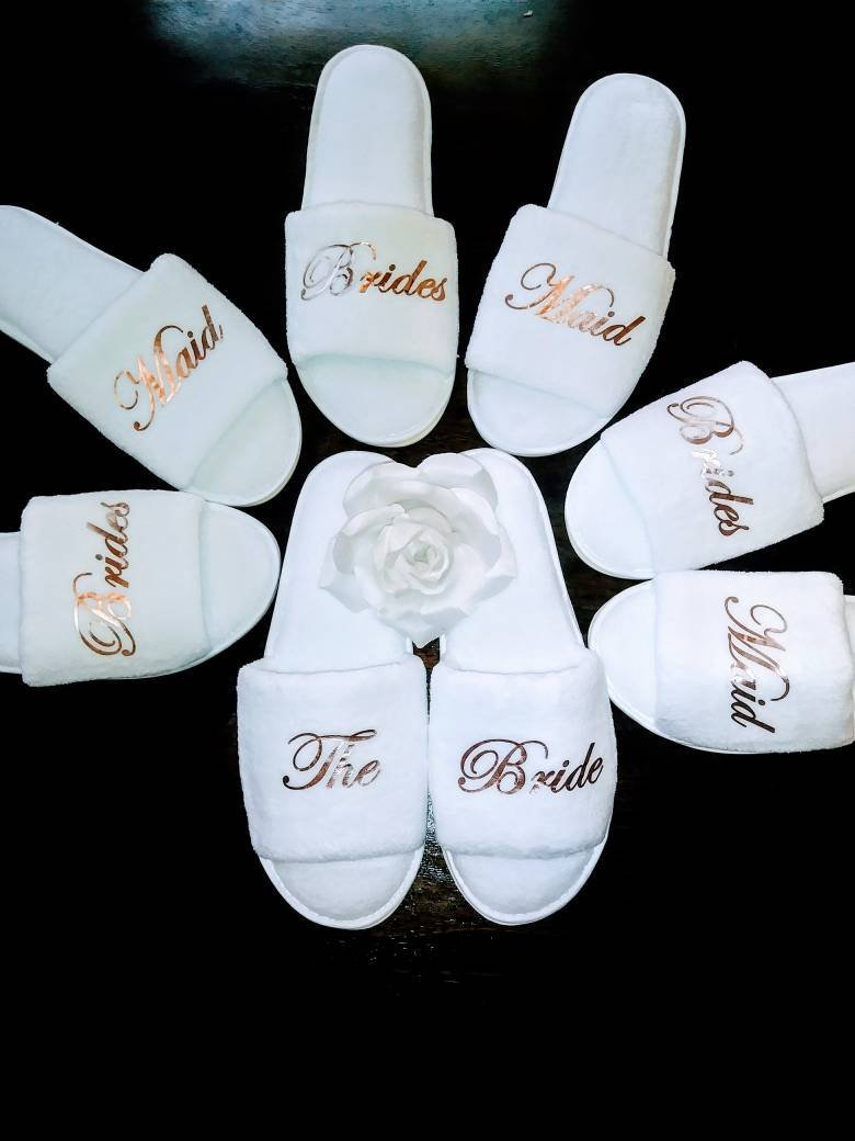 fa886cf7e Excited to share the latest addition to my  etsy shop  Bridesmaid Slippers  - Personalized