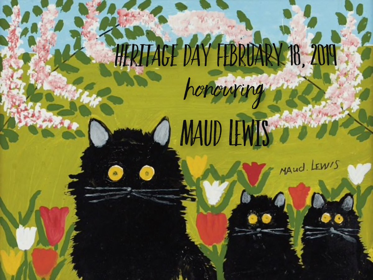 Mon Feb. 18th is Heritage Day in NS. This year we honour Folk Artist Maud Lewis. https://www.artgalleryofnovascotia.ca/maud-lewis Enjoy your day! See you Tuesday!