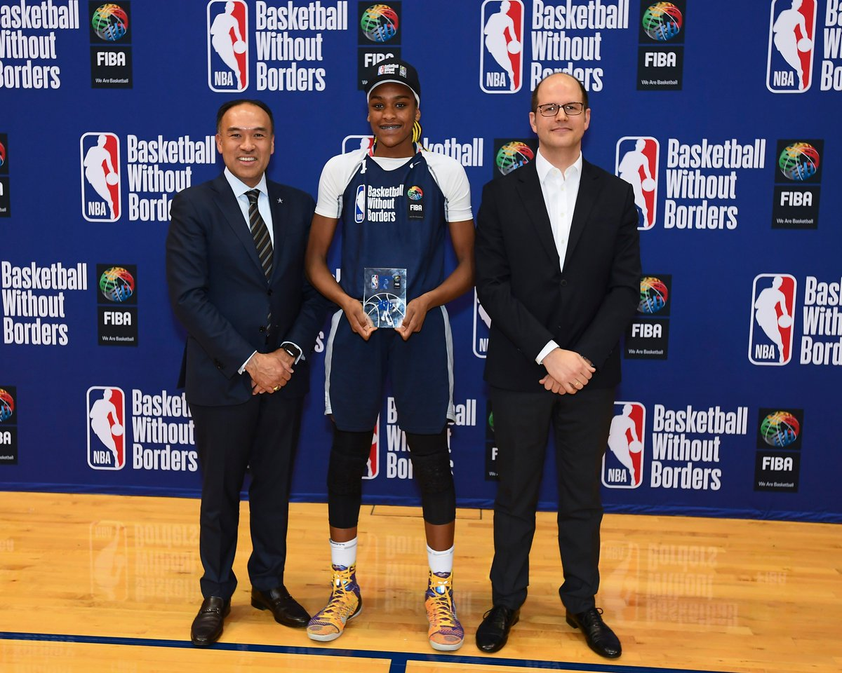 CONGRATULATIONS to Aaliyah Mckenzie Edwards 🇨🇦 on being named MVP of #BasketballWithoutBorders 👏👏👏   #BWBGlobal | #NBAAllStarWeekend