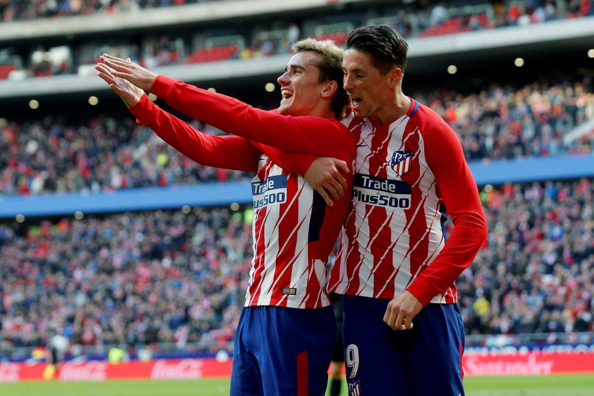 ⚽ @AntoGriezmann (130) ⚽ @Torres (129)   ¡Griezmann supera a 'El Niño' y ya es el QUINTO MÁXIMO GOLEADOR de la historia del @Atleti en todas las competiciones! 🔴⚪