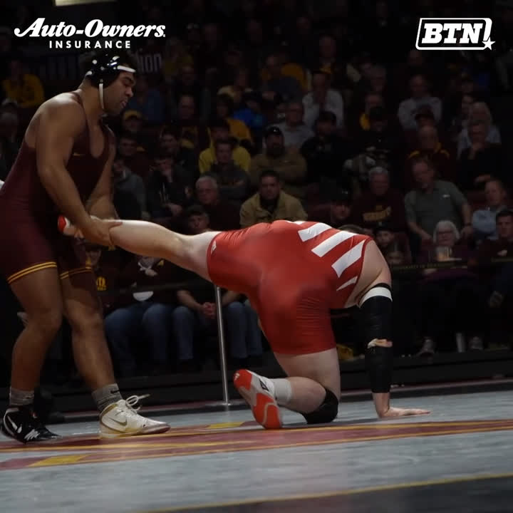 If @GSteveson had a rapper name it would be Young Savage. 😈 @GopherWrestling @FloWrestling   BTN x @AutoOwnersIns