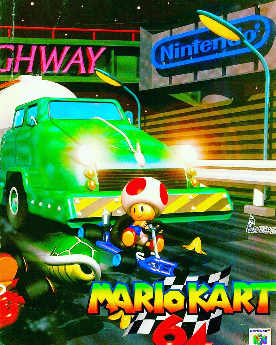 Supper Mario Broth Ar Twitter Full Version Of A Promotional Render Of Toad S Turnpike For Mario Kart 64 The Full Image Was Only Used In Japan Audiences In All Other Territories Were