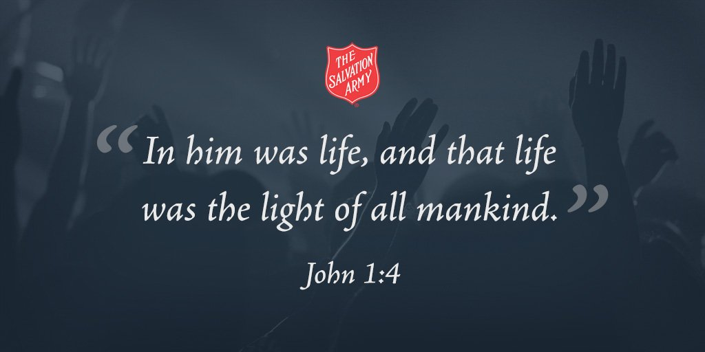 """John 1:4, """"In Him was life, and that life is the light of all mankind."""" #SundayInspiration"""