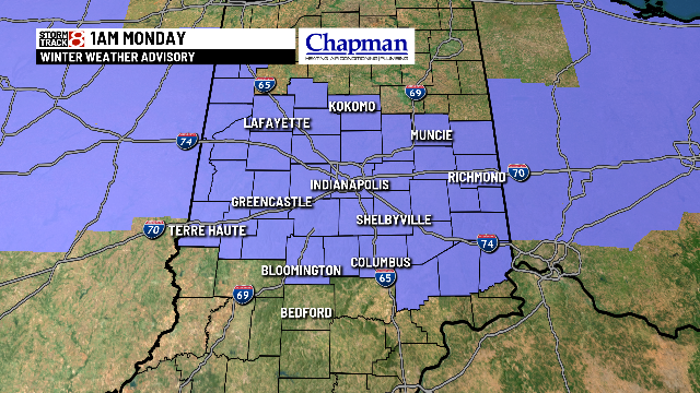 NWS has just issued a Winter Weather Advisory until 1am for freezing drizzle. Watch out for slick spots tonight #inwx #Indianapolis