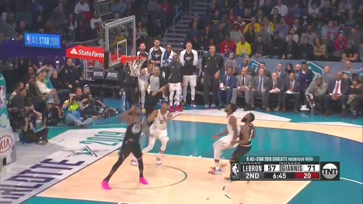 The ball is literally OFF THE SCREEN before he dunks this.