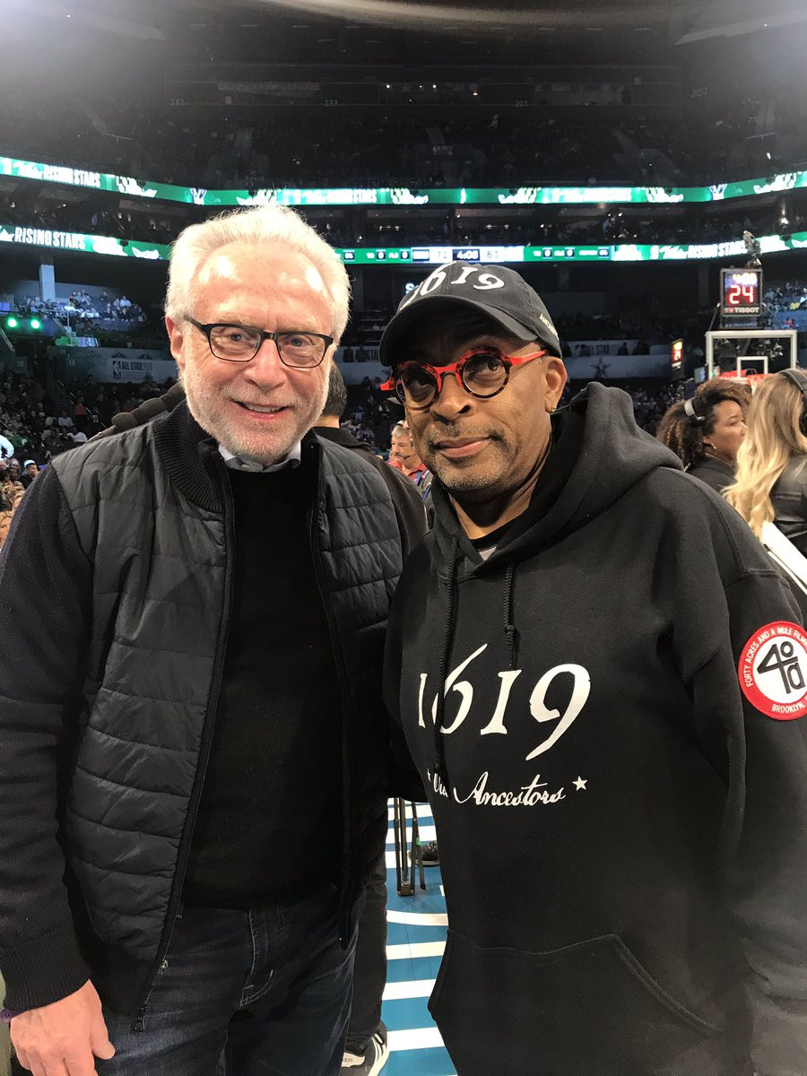 Spike Lee is a very loyal @nyknicks fan. I'm a very loyal @WashWizards fan. We both love the @NBAAllStar weekend.