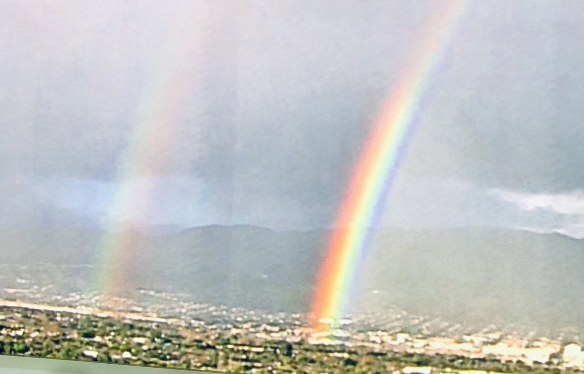 It's a double rainbow kind of Sunday here in LA. #beautiful