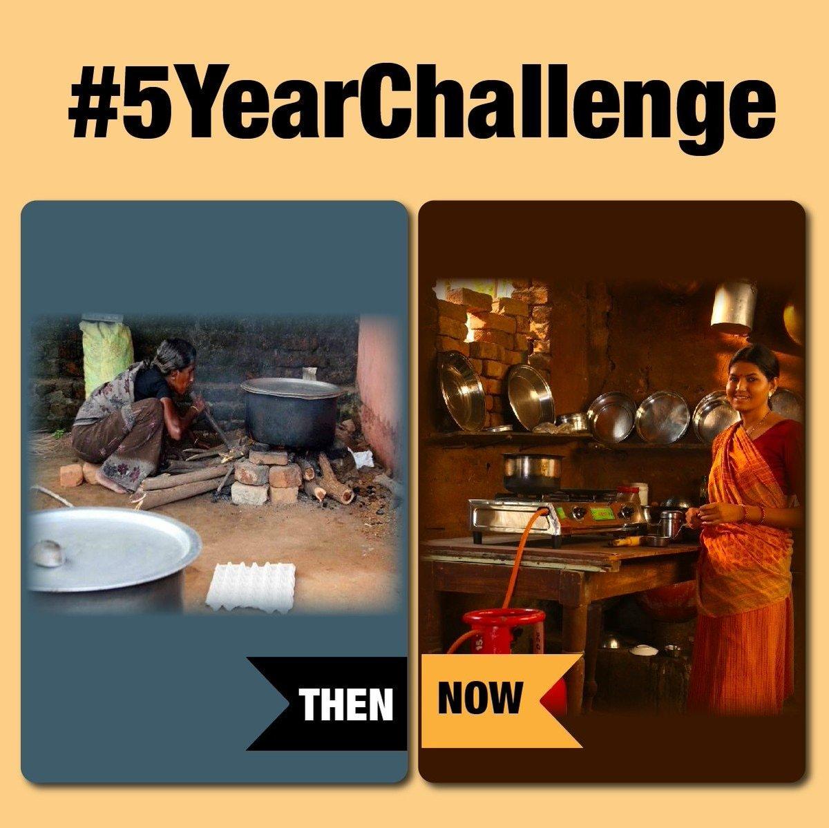 #5YearChallenge #5YearChallenge via NaMo App  @narendramodi