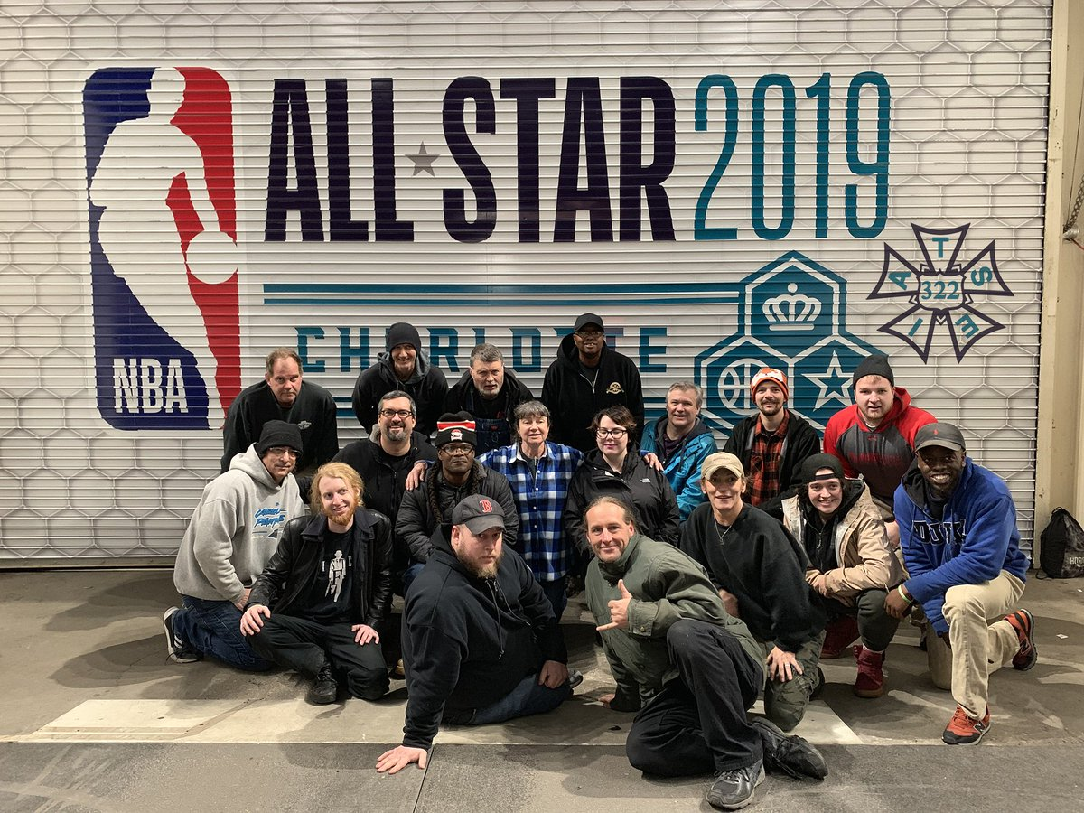 When you watch the #NBAAllStar Game tonight, thank the more than 100 @IATSE322 stagehands and crew members who helped make All Star Weekend happen!