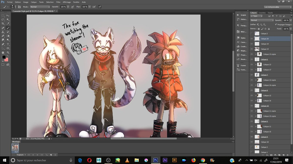 """Stream is over! So I guess I'll be streamin' once in a while on Picarto, so u can check that out🤔 The user name is """"TheFanartDrawer713705""""  Here's a pic of the sketch commission! Gonna fix up some stuff before it's done"""